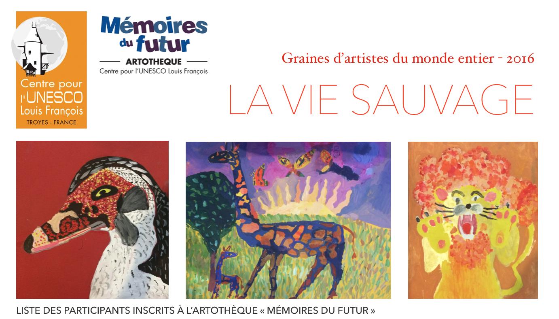 """Cliquez dessus pour afficher la liste des enfants et jeunes inscrits à l'Artothèque """"Mémoires du futur"""" 2016"""